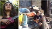 Cette artiste sinistrée de Chênée réchauffe le cœur de ses voisins en chanson