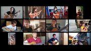 [Zapping 21] Quand les élèves confinés d'un même cours de guitare reprennent les Beatles