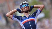 """Mondiaux de cyclisme - """"Il m'a fait peur le con"""": Julian Alaphilippe, le triomphe du coeur"""