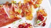 Recette : saumon gravlax au gingembre et cerises