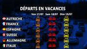 Départ en vacances le wee-kend du 17-19 juillet