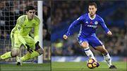 Thibaut Courtois aussi subjugué par les prestations d'Eden Hazard