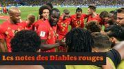 Le bulletin de notes après Belgique-Brésil
