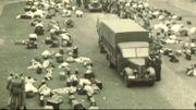 Un convoi de déportés à la caserne Dossin
