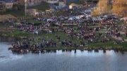 Comme au Welcome Spring Festival, des centaines de fêtards se retrouvent après les examens