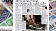 Un Cannabis social club à Mons ? On en parle dans la revue de presse