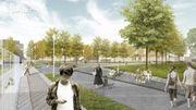 Illustration du futur parc de la porte de Ninove.