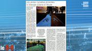 Les pistes cyclables éclairées à l'énergie solaire à l'étude