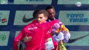 Kevin et Jonathan Borlée partagent leur bonheur sur le podium du 400m