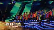 Les Pastoureaux, comme Blanche, au pied du podium de l'Eurovision