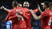 Courtois et le Real s'imposent à l'Espanyol, doublé de Benzema