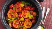 Tajine de tomates au miel et à la cannelle