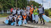 Les résidents du centre Fedasil de Bovigny à l'assaut des détritus!