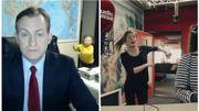 La parodie belge de l'expert de la BBC interrompu en plein direct par ses enfants ;-)