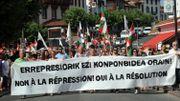 """Manifestation """"contre la répression"""", dans le Pays basque français, en juillet 2015"""