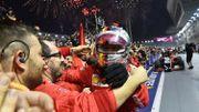 Le stratège Vettel renoue avec la victoire à Singapour, Leclerc assure le doublé Ferrari