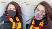 Un masque qui révèle, comme par magie, la Carte du Maraudeur de Harry Potter en respirant