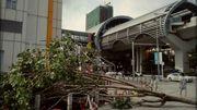 A Guangzhou entre Canton et Hong Kong, la tempête a laissé beaucoup de dégâts derrière elle.