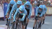Astana décroche le chrono par équipe, Angel Lopez 1er leader de la Vuelta
