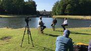 """Photo prise lors du tournage de l'émission spéciale : """"Le temps d'une histoire - Il y a 60 ans, l'indépendance du Congo"""" au parc de Tervuren."""
