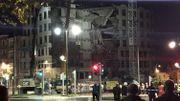 Un bâtiment démoli en urgence avenue de Tervueren: les images de la destruction