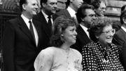 Roger Delizée, secrétaire d'Etat à la Santé (tout à gauche) et Marcel Colla (à droite, au centre).