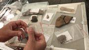 Différents objets néolithiques et gaulois découverts dans le Bois du Grand Bon Dieu