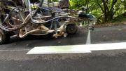 Namur : des marquages à la peinture luminescente pour guider les cyclistes sur un RAVeL