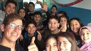 A la rencontre de classes dans une école turque pour expliquer son voyage