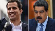 Juan Guaido (à gauche), Nicolas Maduro (à droite)