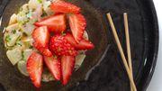 Recette : Tartare de daurade fraises, passion
