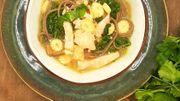 Expresscette de Candice : Soupe de nouilles au saumon frais