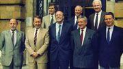 Didier Gosuin, en 1989, dans le premier gouvernement régional bruxellois.