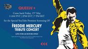 Le concert Freddie Mercury Tribute disponible pendant 48h !