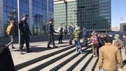 La police est intervenue rapidement, dans un climat fort tendu.