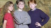 Emma Watson, en compagnie de Daniel Radcliffe et Rupert Grint, les trois héros de la saga Harry Potter