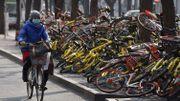 A Pékin, ldes vélos partagés déposés sans ménagement