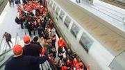 Les manifestants ont privilégié le train pour se rendre à Bruxelles. Ici: la gare des Guillemins.