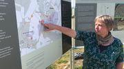 Hélène Collet, archéologue à l'agence wallonne du patrimoine, nous montre où se concentrent les fouilles actuellement.