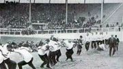 La lutte à la corde, aux Jeux de Londres, en 1908