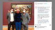 Brad Pitt en visite aux Musées Royaux des Beaux-Arts de Bruxelles