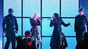 """Christina Aguilera et Demi Lovato dans le clip de """"Fall in Line"""""""