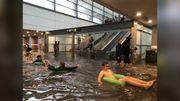 Une inondation transforme une gare suédoise en piscine souterraine