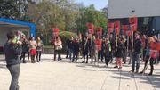 Les étudiants veulent empêcher l'entrée des responsables de l'Université libre de Bruxelles sur le site.