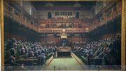 Le Parlement des singes de Banksy adjugé au montant record de 11,1 millions d'euros