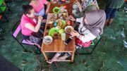 """Dîner avec """"fish pédicure"""" au menu dans un restaurant indonésien"""