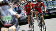 Van Garderen souffre lors de la 17e étape du Tour 2015.
