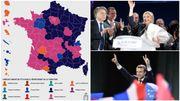 Présidentielle française: voici les candidats arrivés en tête dans chaque département (carte)