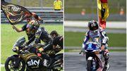 Bagnaia champion en Moto2, Martin titré en Moto3