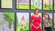 Bozar inaugure son exposition sur David Hockney en présence du couple royal